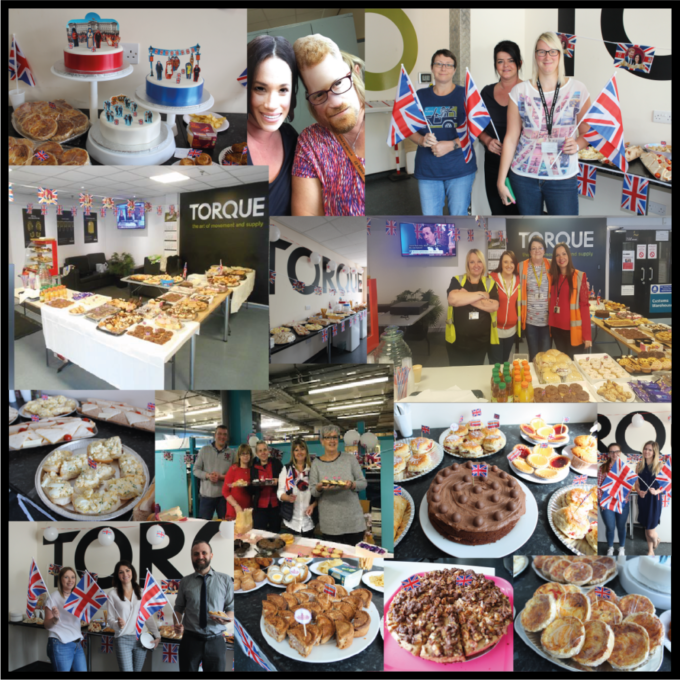 Team Torque throws Royal Wedding tea parties to raise money for their community partners.