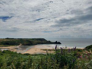 The Three Cliffs Beach